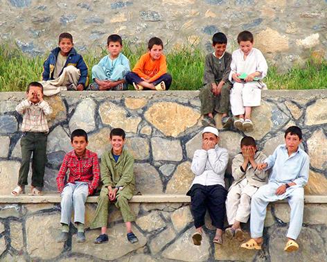 Group of Afghan boys