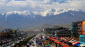 Kabul in front of mountains